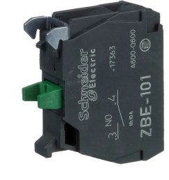 schneider electric zbe101 single contact block for 022 head 1no 6a 600v screw terminal allied electronics automation [ 1000 x 1000 Pixel ]