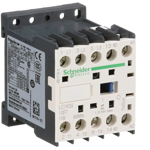 small resolution of schneider electric lc1k0910f7 contactor power poles 1 spst no
