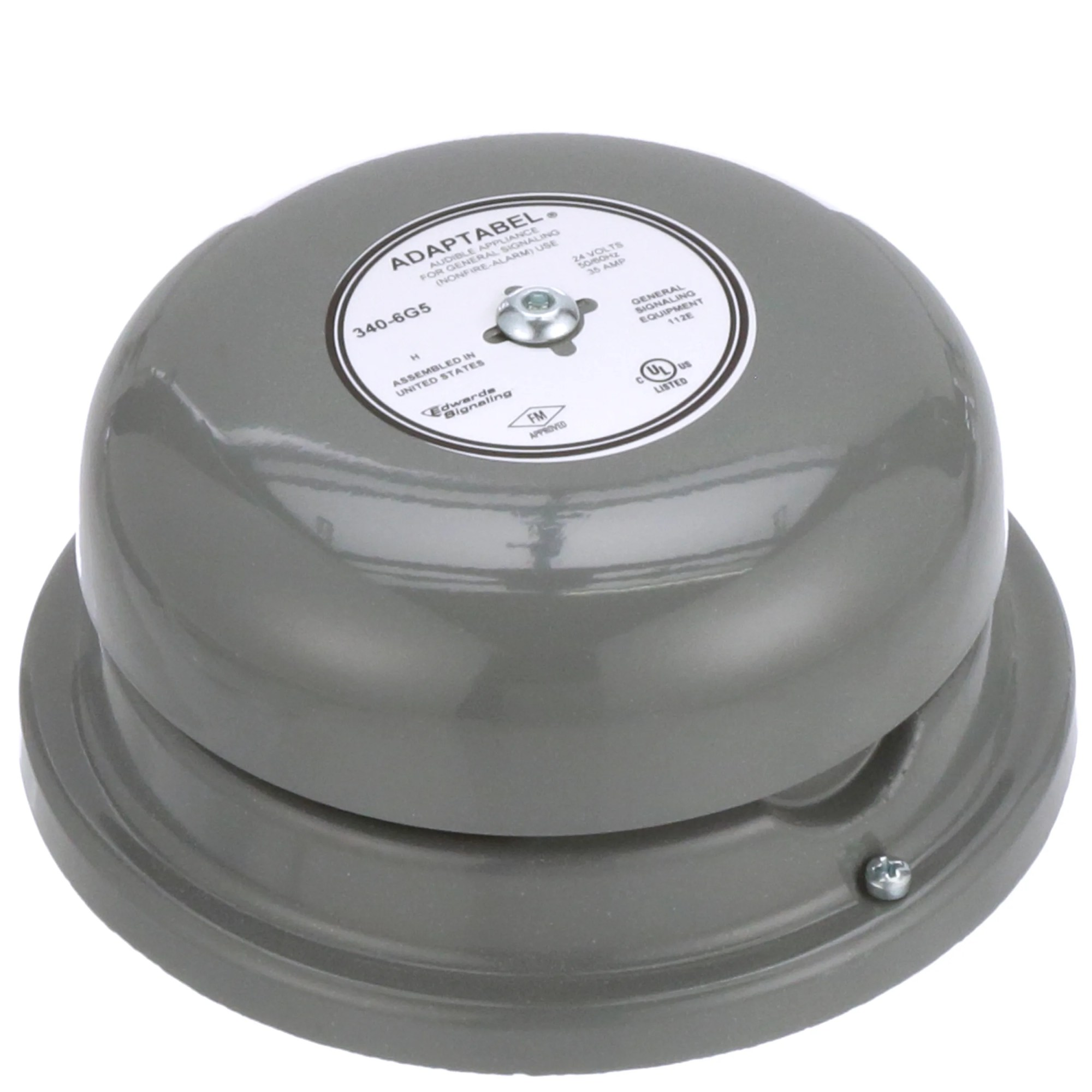hight resolution of edwards signaling 340 6g5 audio warning device bell vibrating continuous 24vac sup 0 35a 92db allied electronics automation