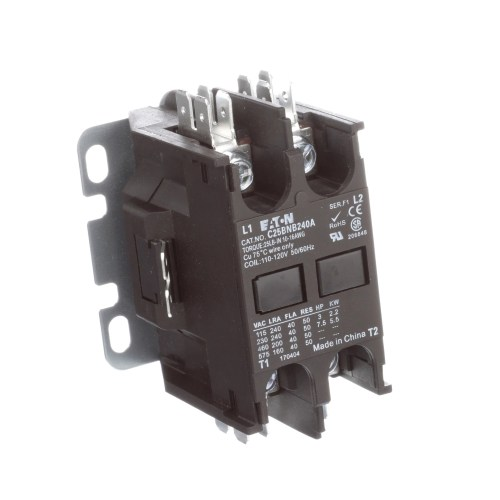 small resolution of eaton cutler hammer c25bnb240a definite purpose control contactor 2 pole 40a 120vac coil allied electronics automation