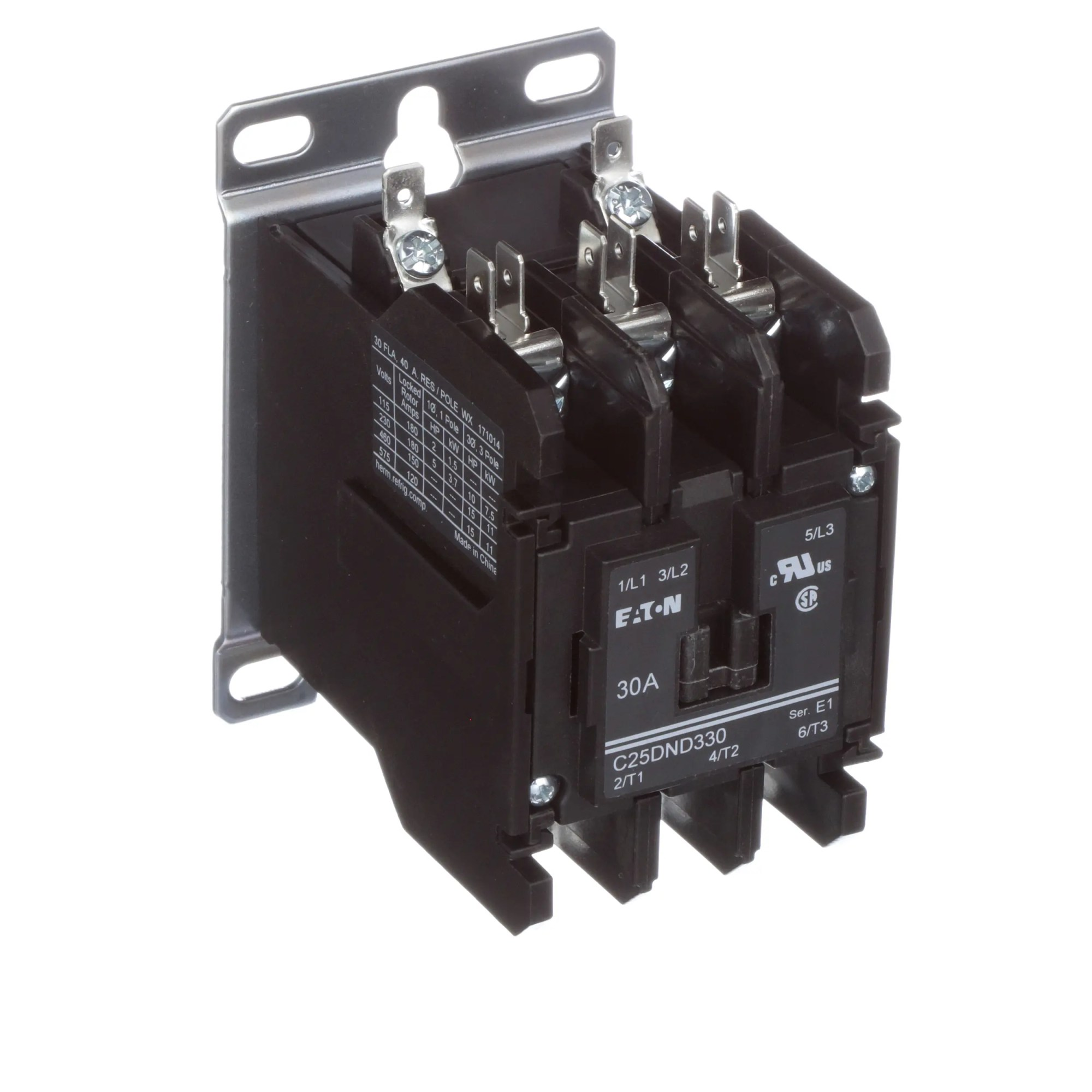 hight resolution of eaton cutler hammer c25dnd330a definite purpose control contactor 3 pole 30a 120vac coil allied electronics automation