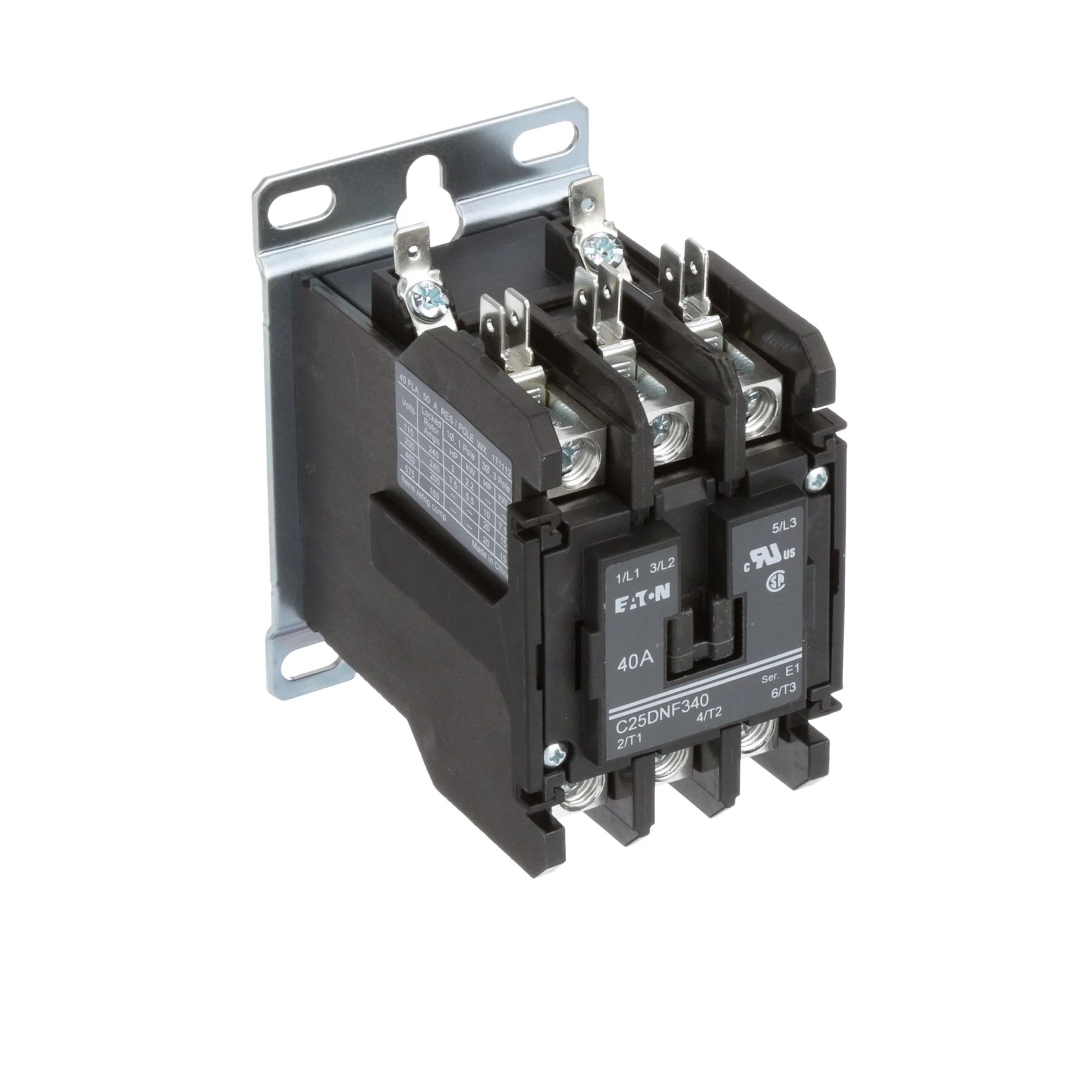 hight resolution of eaton cutler hammer c25dnf340a definite purpose control contactor 3 pole 40a 120vac coil allied electronics automation