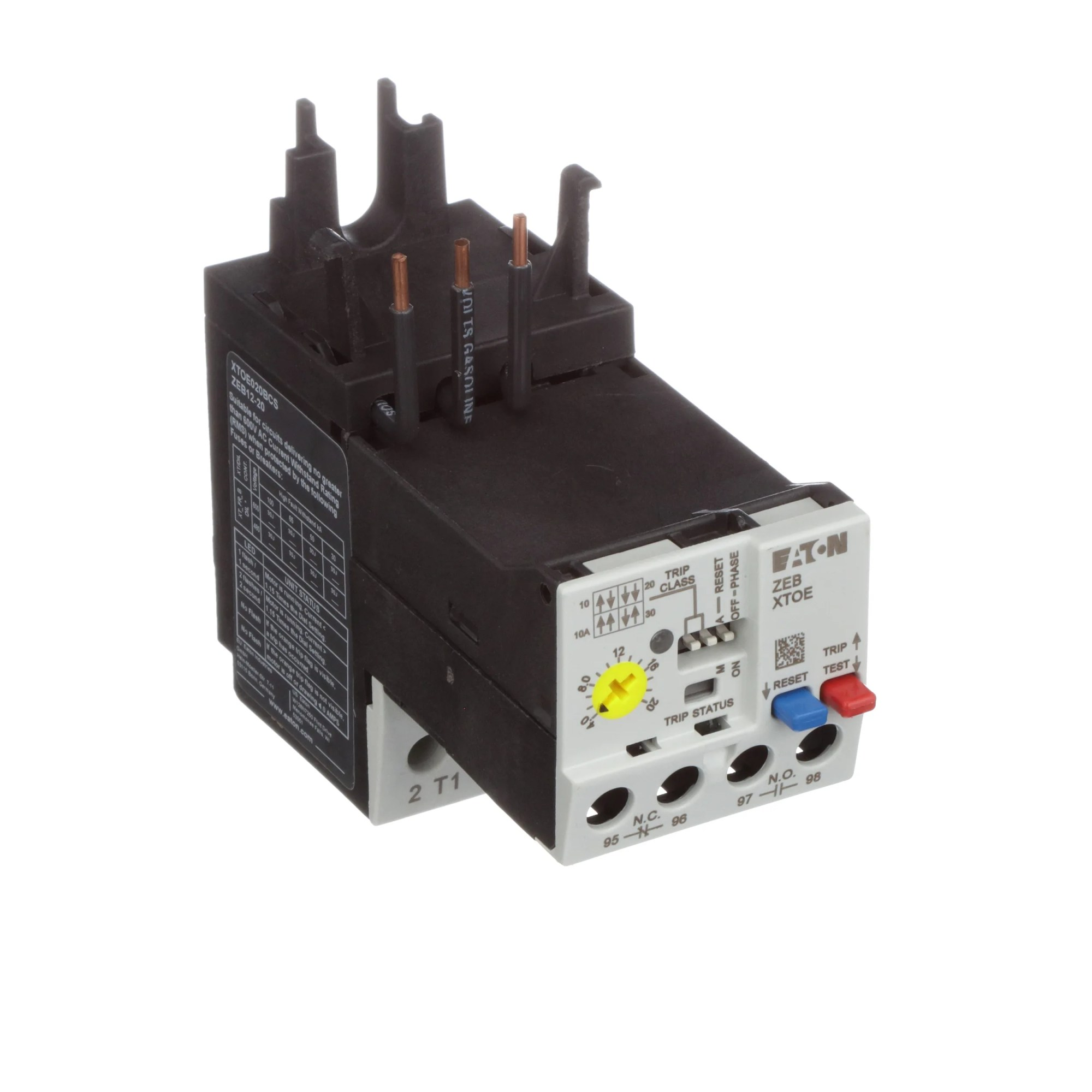 hight resolution of eaton cutler hammer xtoe020bcs electronic overload relay xtoe 4 20a iec b frame allied electronics automation