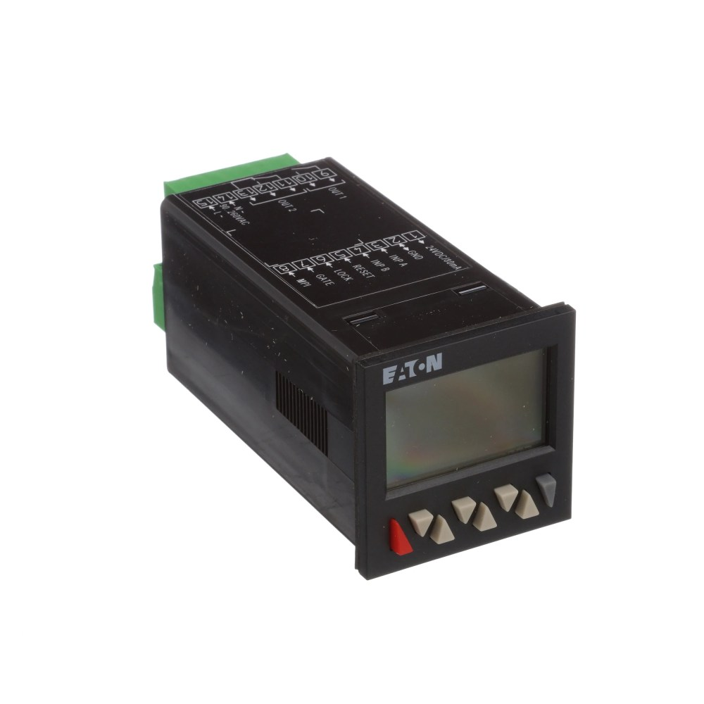 medium resolution of eaton cutler hammer e5 648 c2421 counter preset 1 16 din 2 line lcd 2 presets 90 260vac allied electronics automation