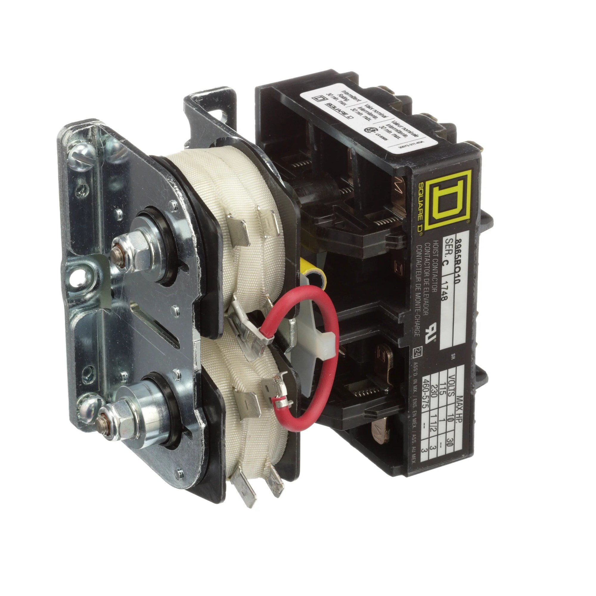 hight resolution of square d 8965ro10v01 8965r 3 pole contactor 575 v ac 24 v ac coil allied electronics automation