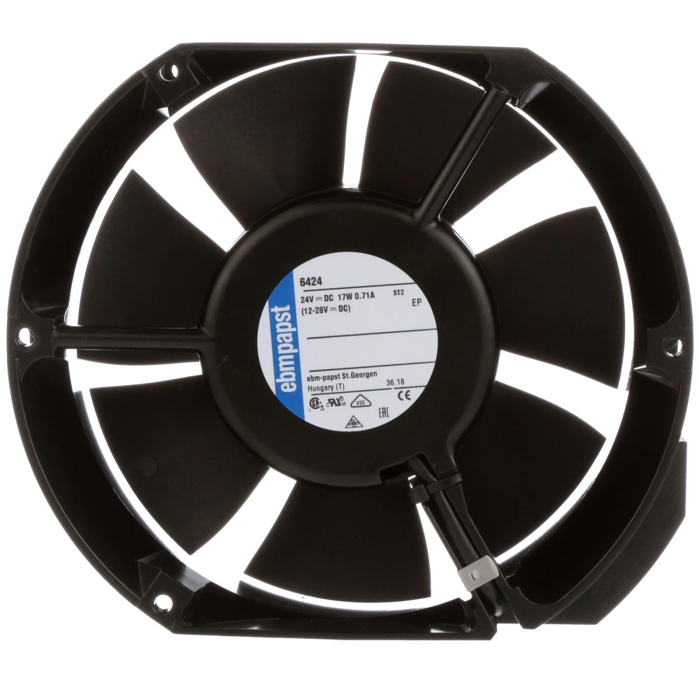 medium resolution of ebm papst 6424 fan dc 24v 172x150x51mm obround 241 3cfm 18w 57dba 3400rpm terminals allied electronics automation