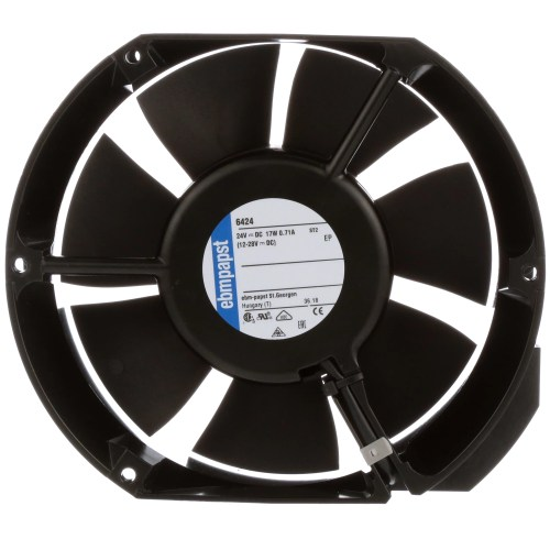 small resolution of ebm papst 6424 fan dc 24v 172x150x51mm obround 241 3cfm 18w 57dba 3400rpm terminals allied electronics automation