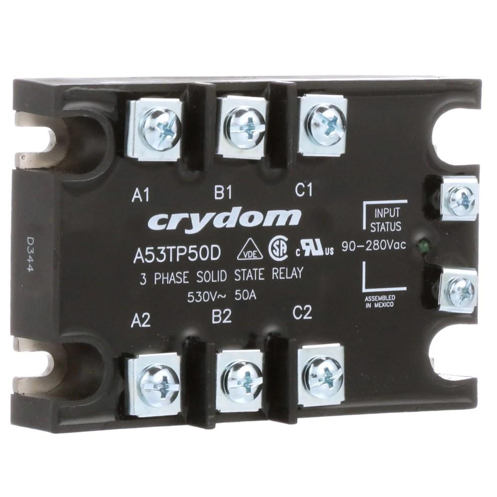 medium resolution of sensata crydom a53tp50d relay ssr zero switching cur rtg 50a ctrl v 90 280ac vol rtg 48 530ac pnl mnt allied electronics automation