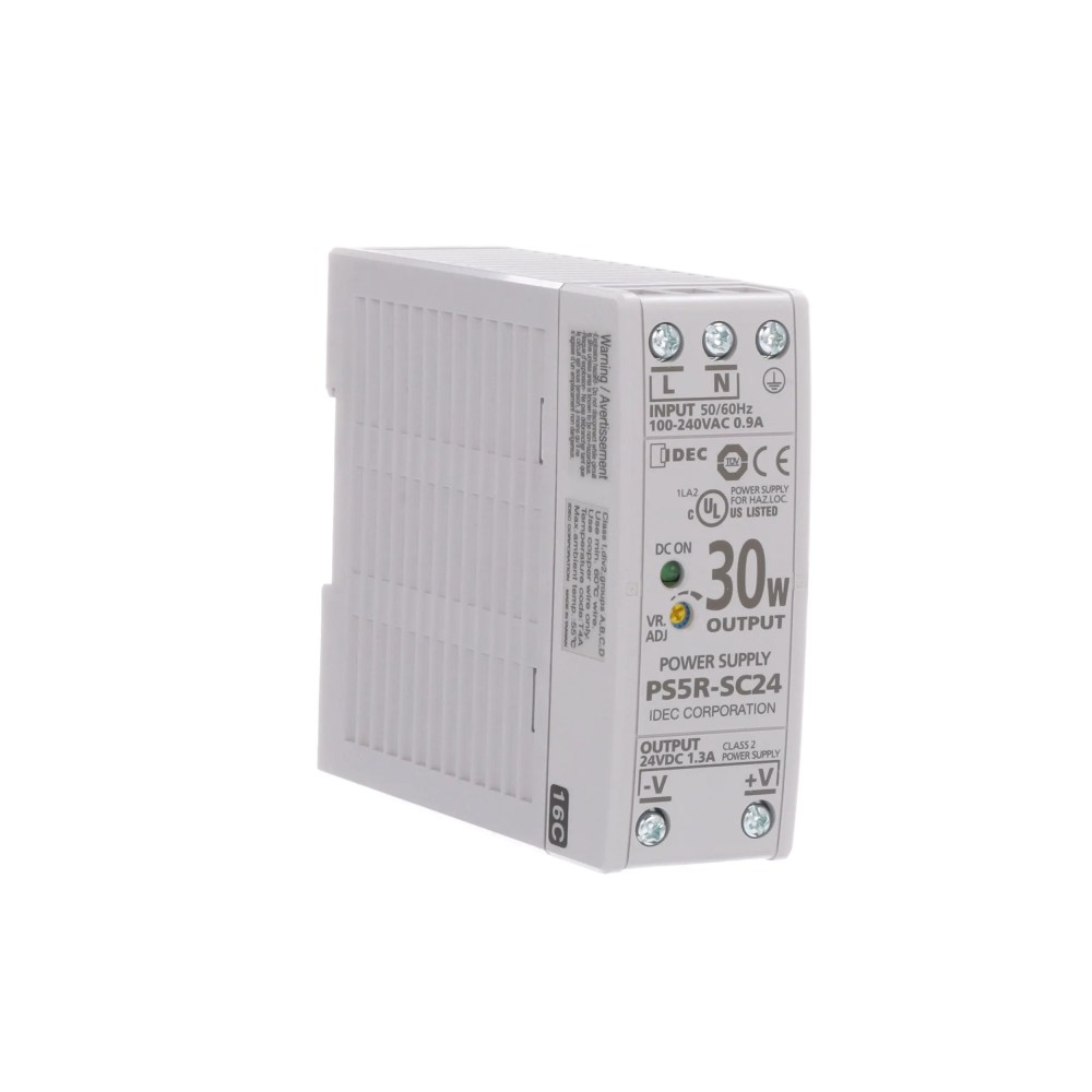 medium resolution of idec corporation ps5r sc24 power supply ac dc 24v 1 3a 85 264v in enclosed din rail mount 31w ps5r series allied electronics automation