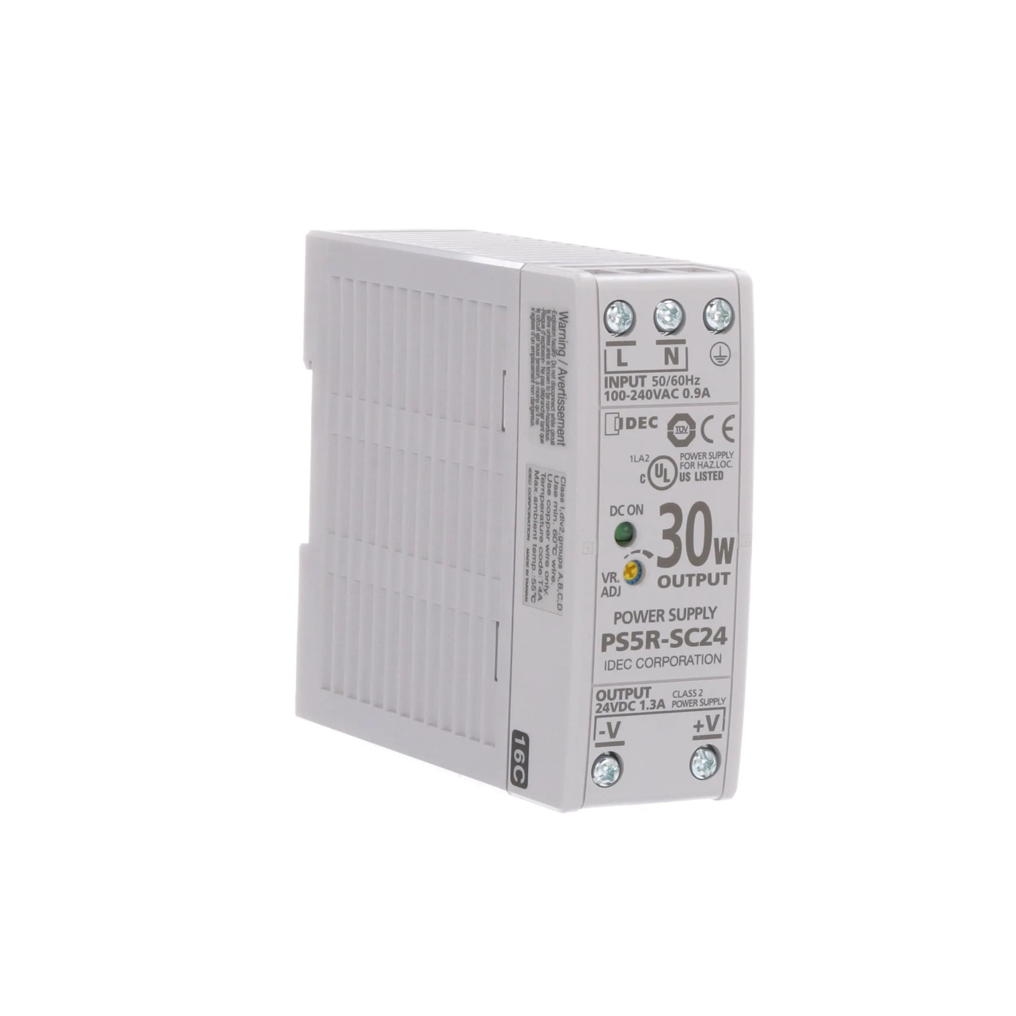 hight resolution of idec corporation ps5r sc24 power supply ac dc 24v 1 3a 85 264v in enclosed din rail mount 31w ps5r series allied electronics automation