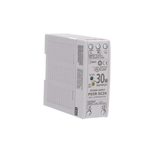 small resolution of idec corporation ps5r sc24 power supply ac dc 24v 1 3a 85 264v in enclosed din rail mount 31w ps5r series allied electronics automation
