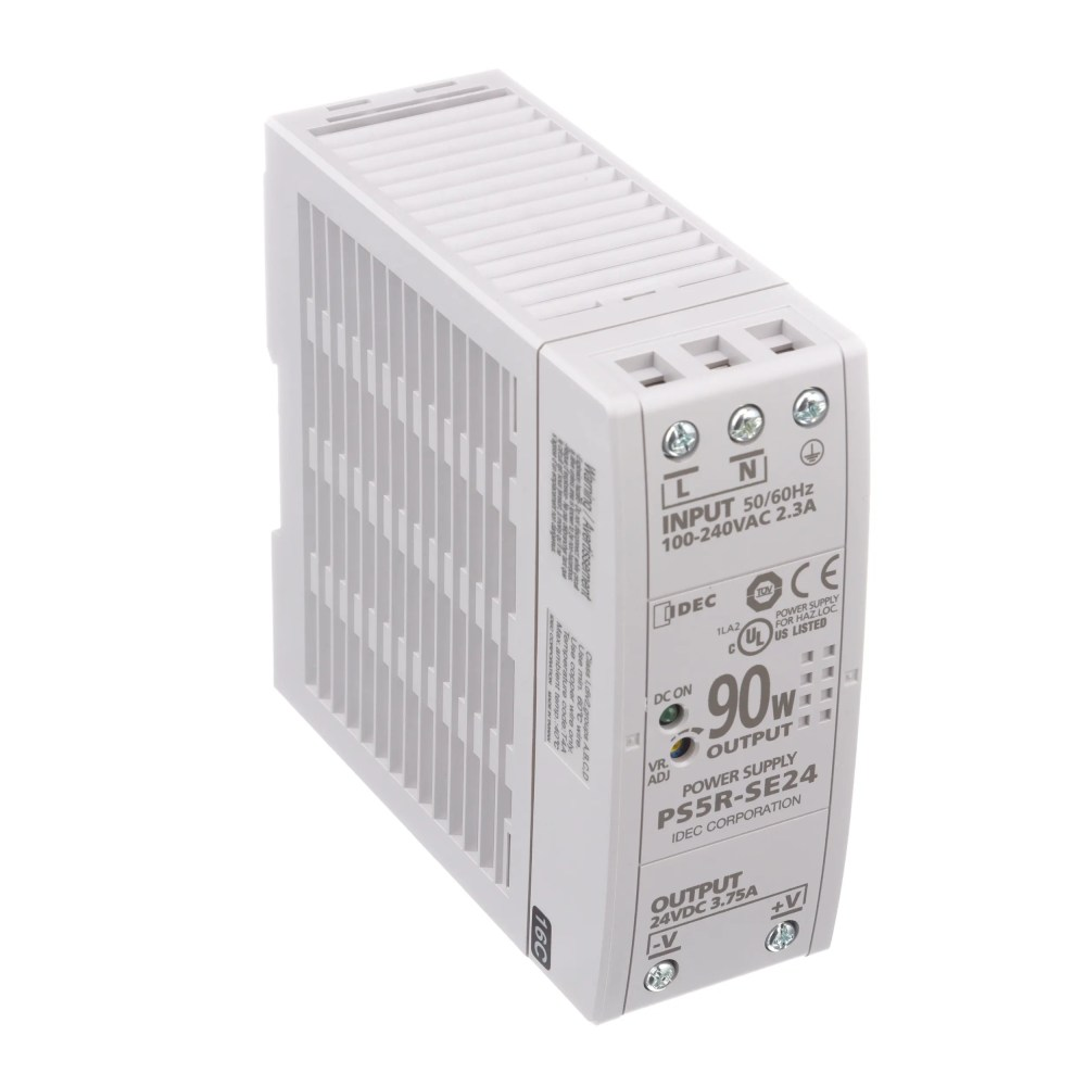 medium resolution of idec corporation ps5r se24 power supply ac dc 24v 3 75a 85 264v in enclosed din rail pfc 90w ps5r series allied electronics automation