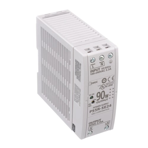 small resolution of idec corporation ps5r se24 power supply ac dc 24v 3 75a 85 264v in enclosed din rail pfc 90w ps5r series allied electronics automation
