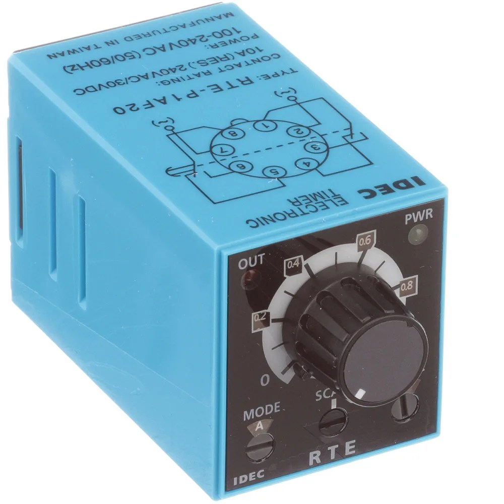 medium resolution of idec corporation rte p1af20 relay ssr timing multi function dpdt cur rtg 10a ctrl v 100 240ac pcb mnt 8 pin allied electronics automation