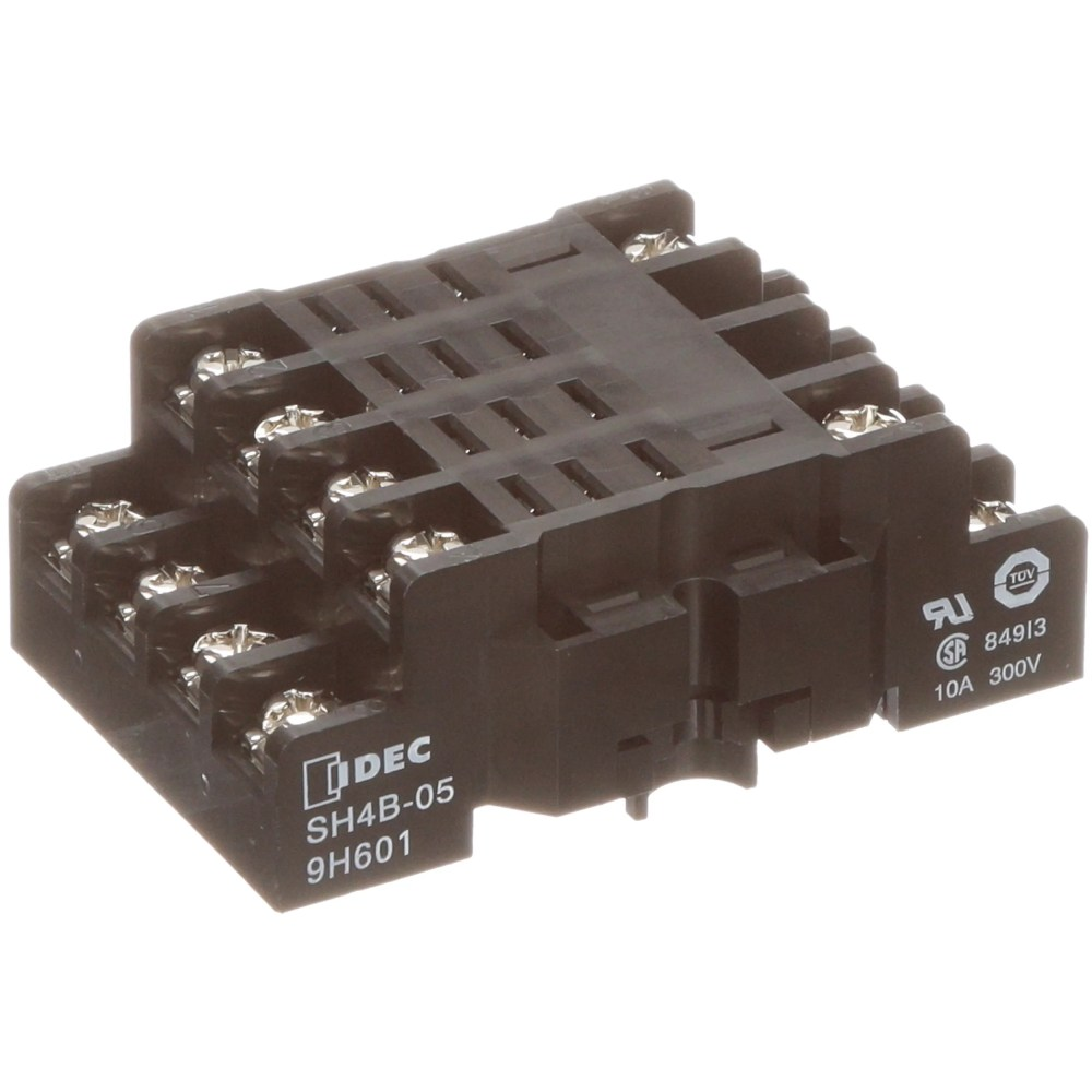 medium resolution of idec corporation sh4b 05 socket relay 14 4 din rail 10 a 100 megohms insulation resistance m3 5 allied electronics automation