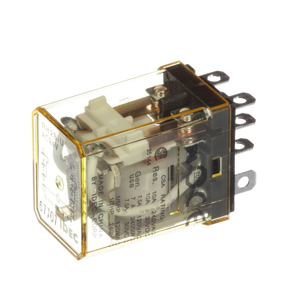 medium resolution of idec corporation rh2b uac24v relay e mech gen purp dpdt cur rtg 10a ctrl v 24ac vol rtg 240 30ac dc blade allied electronics automation