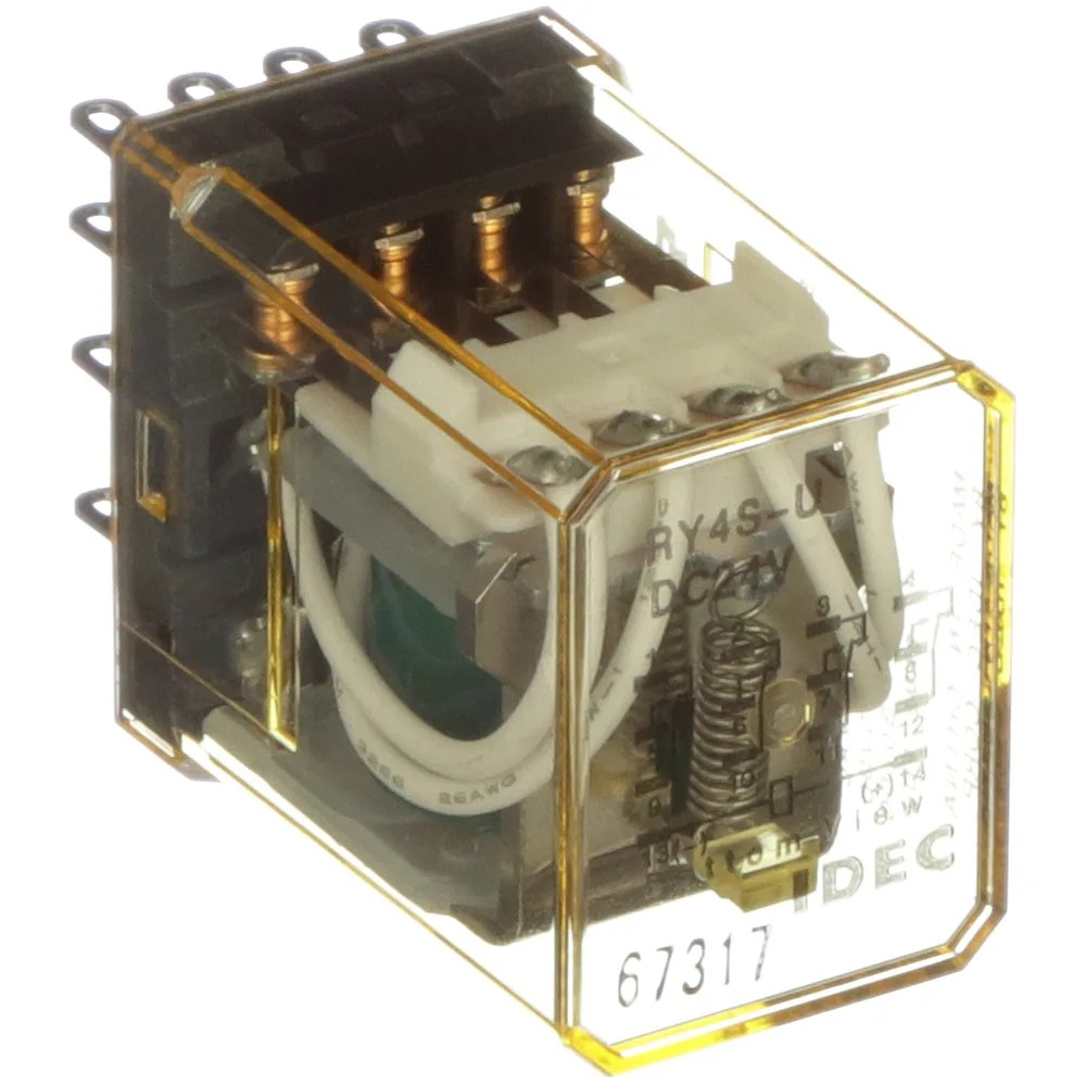 medium resolution of idec corporation ry4s udc24v relay e mech gen purp