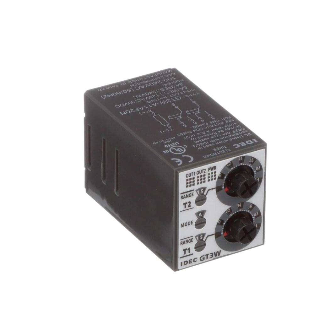 medium resolution of idec corporation gt3w a11af20n relay ssr timing multi function spdt cur rtg 5a ctrl v 100 240ac socket mnt allied electronics automation