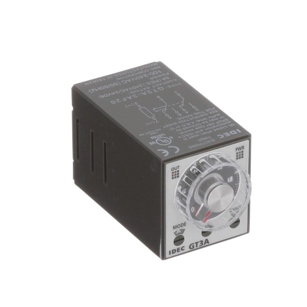medium resolution of idec corporation gt3a 3af20 relay e mech timing multimode dpdt cur rtg 5a ctrl v 100 240ac 250vac socket mnt allied electronics automation