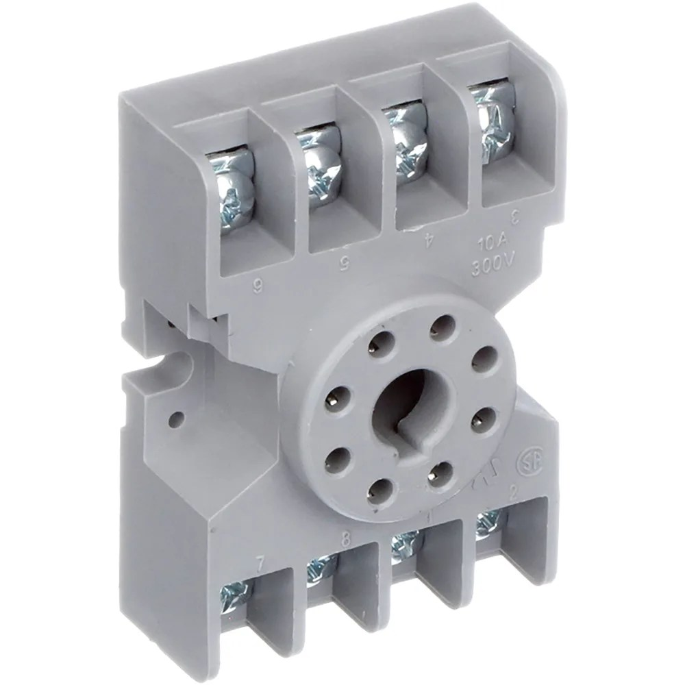 medium resolution of te connectivity 27e122 relay socket 8 pin octal 2 pole for krp and krpa series allied electronics automation