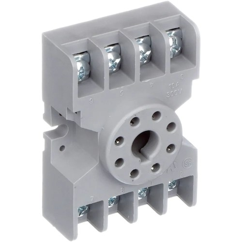 small resolution of te connectivity 27e122 relay socket 8 pin octal 2 pole for krp and krpa series allied electronics automation