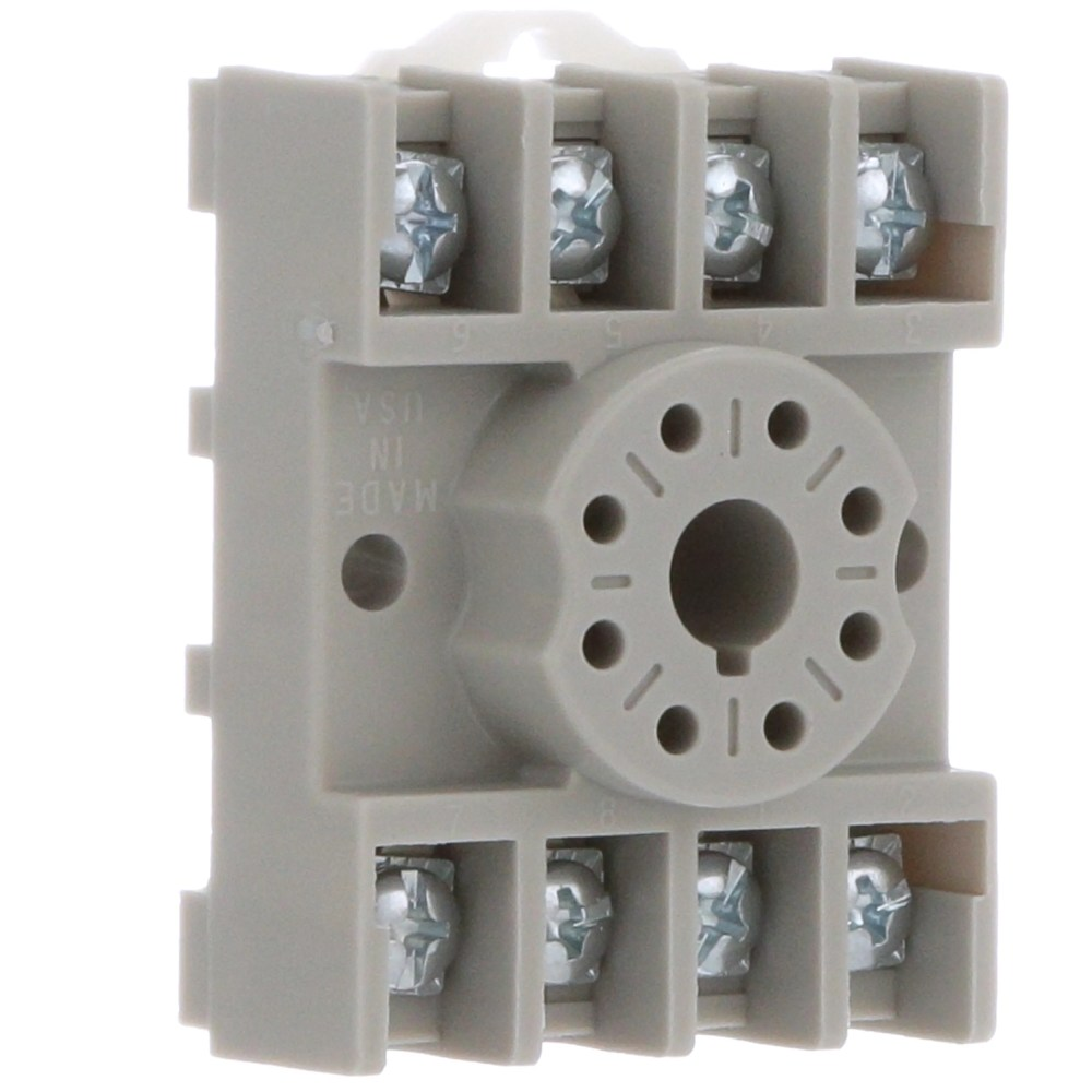 medium resolution of te connectivity 27e891 relay socket 8 pin octal 2 pole screw din rail mount allied electronics automation