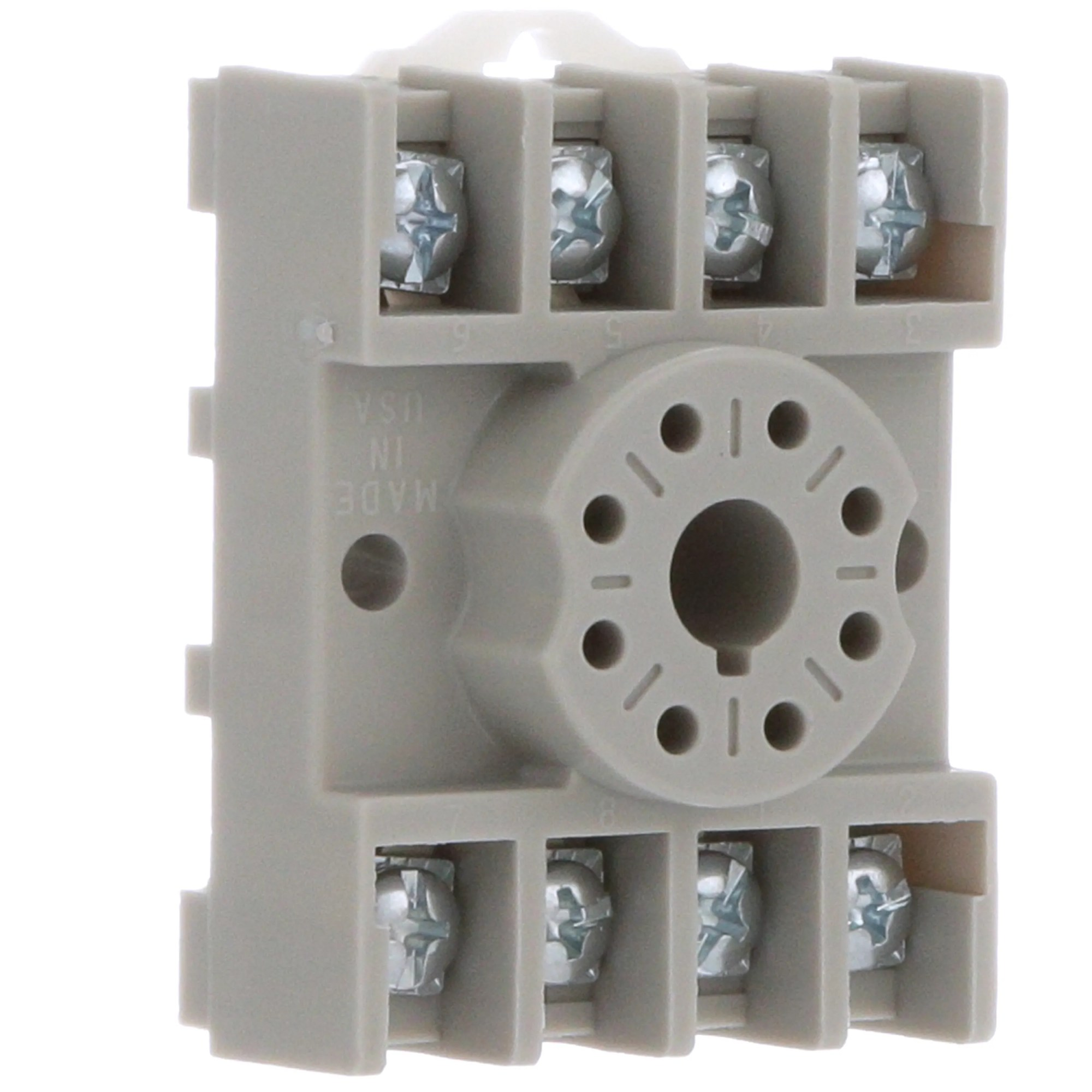 hight resolution of te connectivity 27e891 relay socket 8 pin octal 2 pole screw din rail mount allied electronics automation