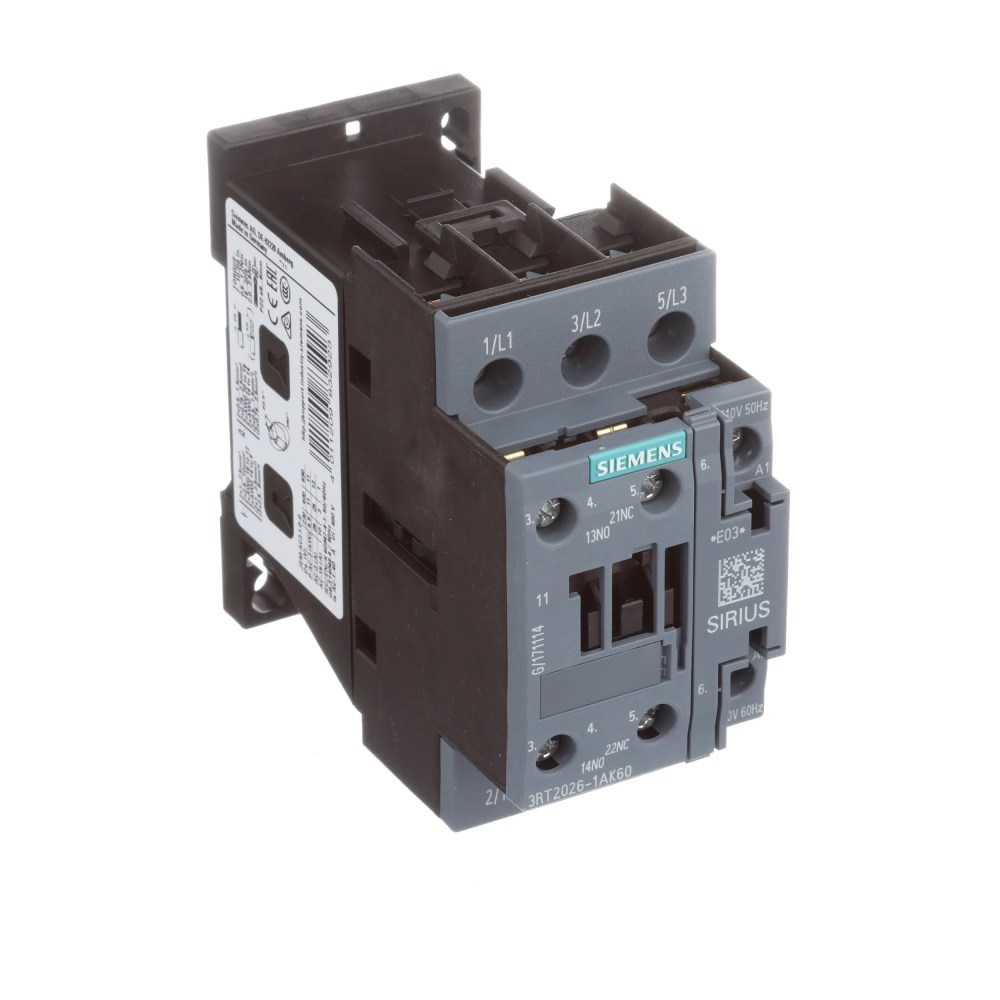 medium resolution of siemens 3rt20261ak60 sirius 3rt 3 pole contactor 25 a 11 kw 110 v ac 50 hz 120 v ac 60 hz coil allied electronics automation