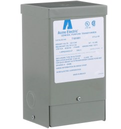 acme electric corporation t181051 buck boost xformer 1 phase 60 hz 120x 240 v input 12 24 v output 0 50kva allied electronics automation [ 2500 x 2500 Pixel ]