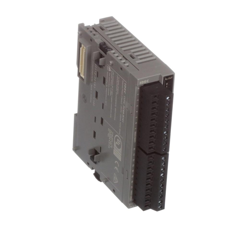 medium resolution of idec corporation fc6a r161 module fc6a series microsmart 24 vdc input 16 inputs relay screw allied electronics automation