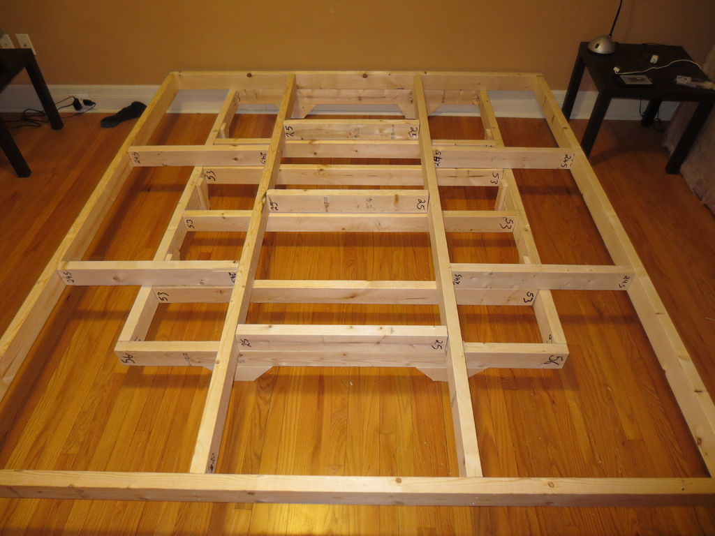 Wooden King Size Platform Beds