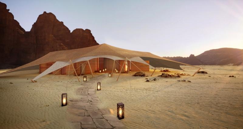 صور مدهشة.. AW2 تصمم منتجع خيم بدوي في صحراء العلا 8