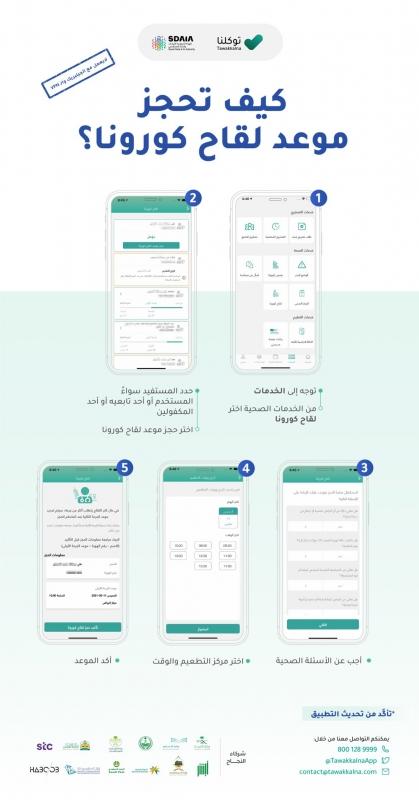 طريقة حجز لقاح كورونا عبر تطبيق توكلنا - المواطن