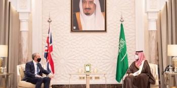 محمد بن سلمان يستقبل وزير الخارجية البريطاني ويبحثان تعزيز التعاون المشترك