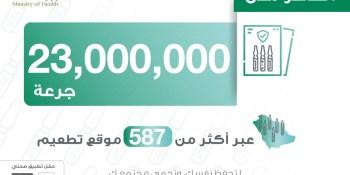 جرعات لقاح كورونا في السعودية تتجاوز 23 مليون جرعة معطاة