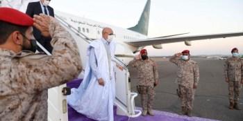 الرئيس الموريتاني يصل إلى المدينة المنورة