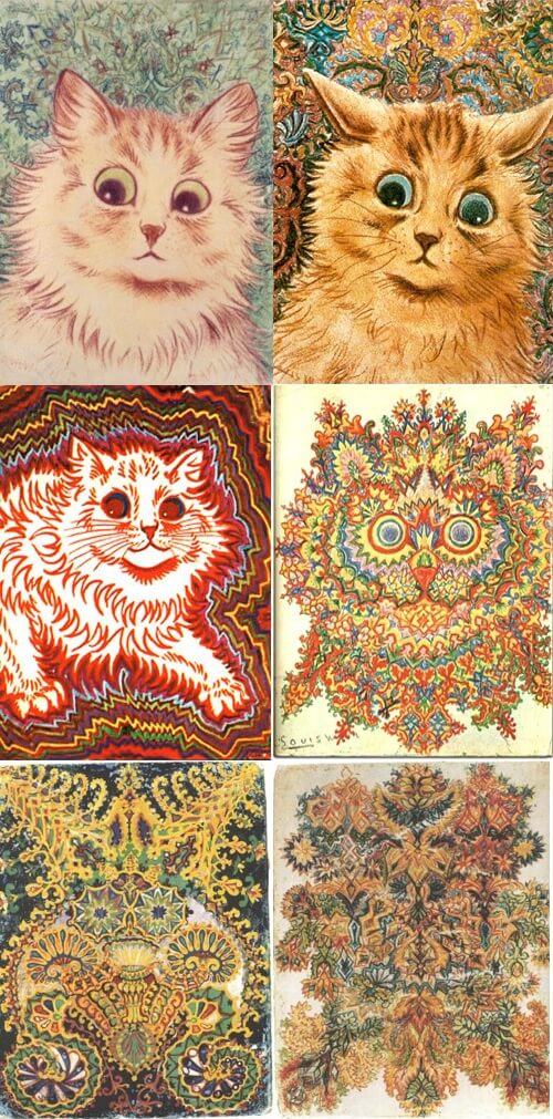 Louis Wain Cat Abstracts