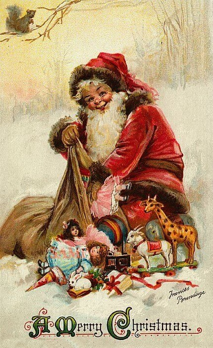 German Card by Frances Brundage Child Santa (1937)
