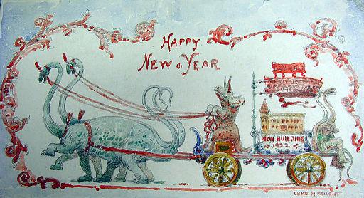 Happy New Year Charles R Knight, 1922