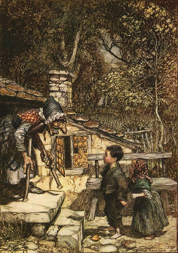 An illustration for the story Hansel and Gretel by the author
