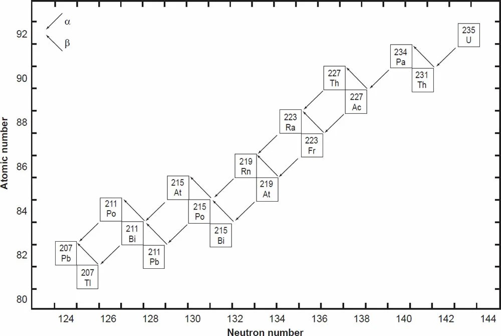 Determination of the Decay Constants and Half-Lives of