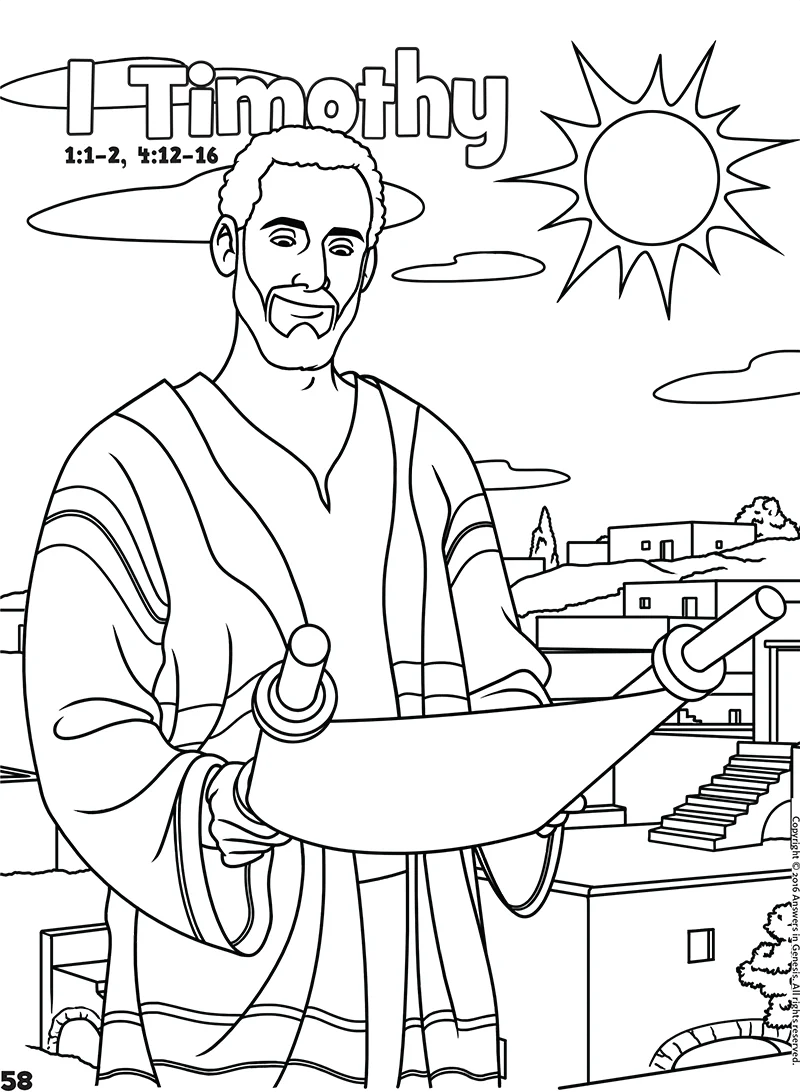 Timothy Bible Coloring Pages Sketch Template Sketch