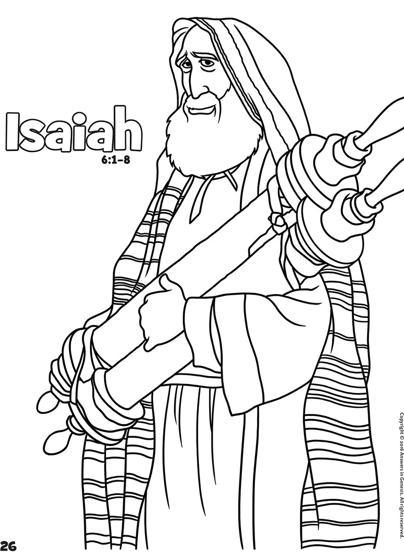 Coloring Sheets For Isaiah Coloring Pages
