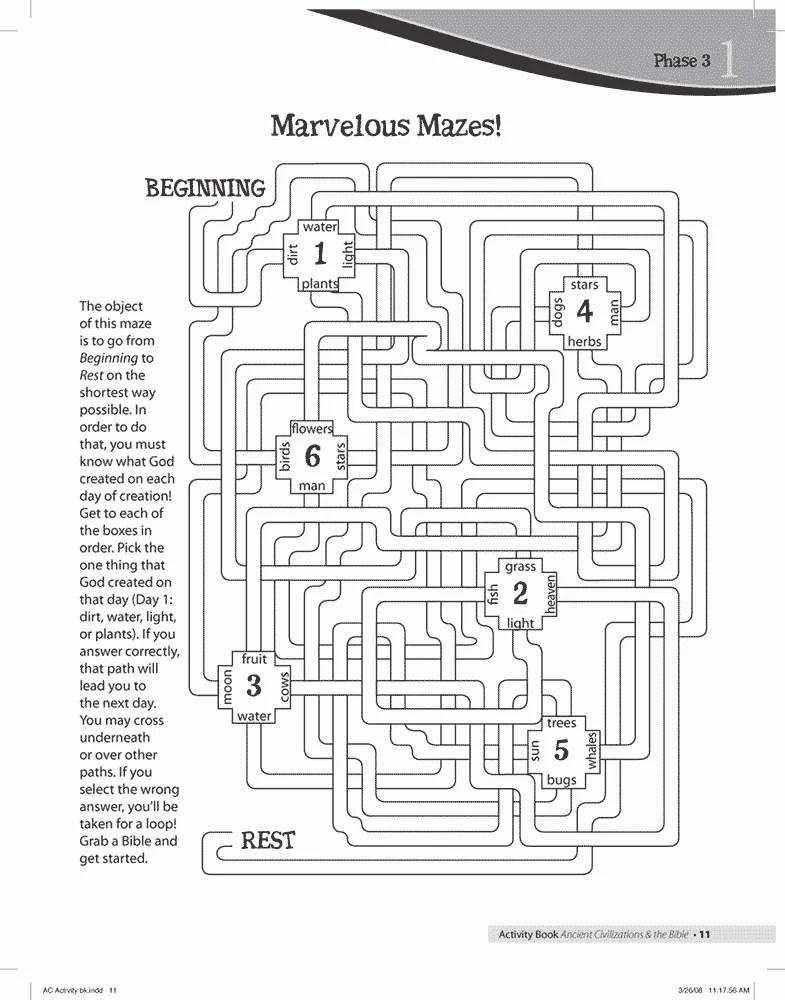 Creation Week Maze