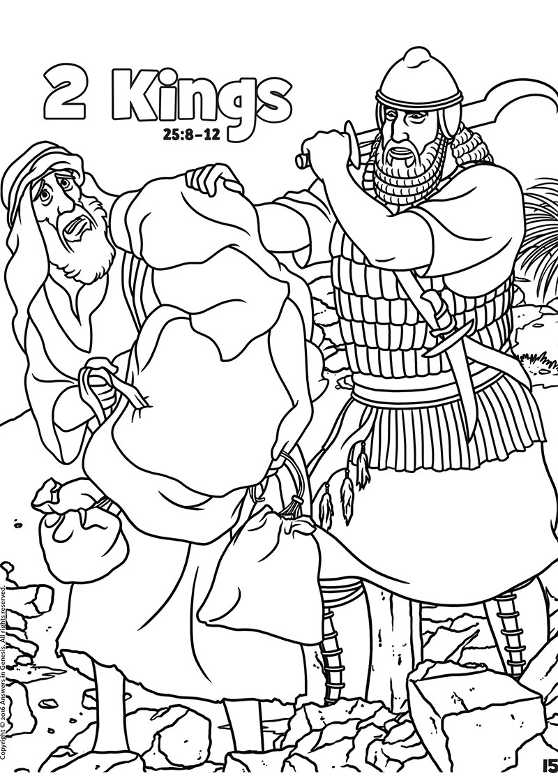 2 Kings: Books of the Bible Coloring (Kids Coloring