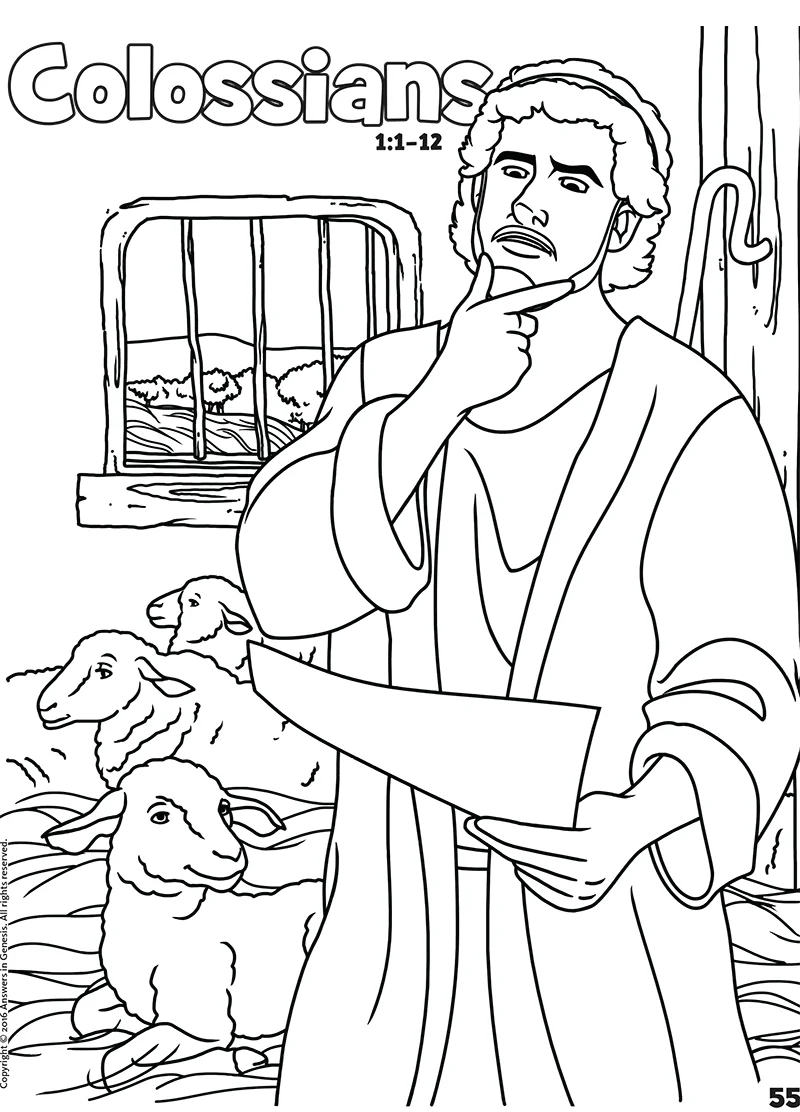 Colossians: Books of the Bible Coloring (Kids Coloring
