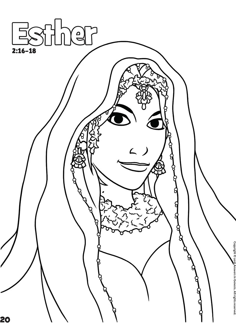 Esther: Books of the Bible Coloring (Kids Coloring