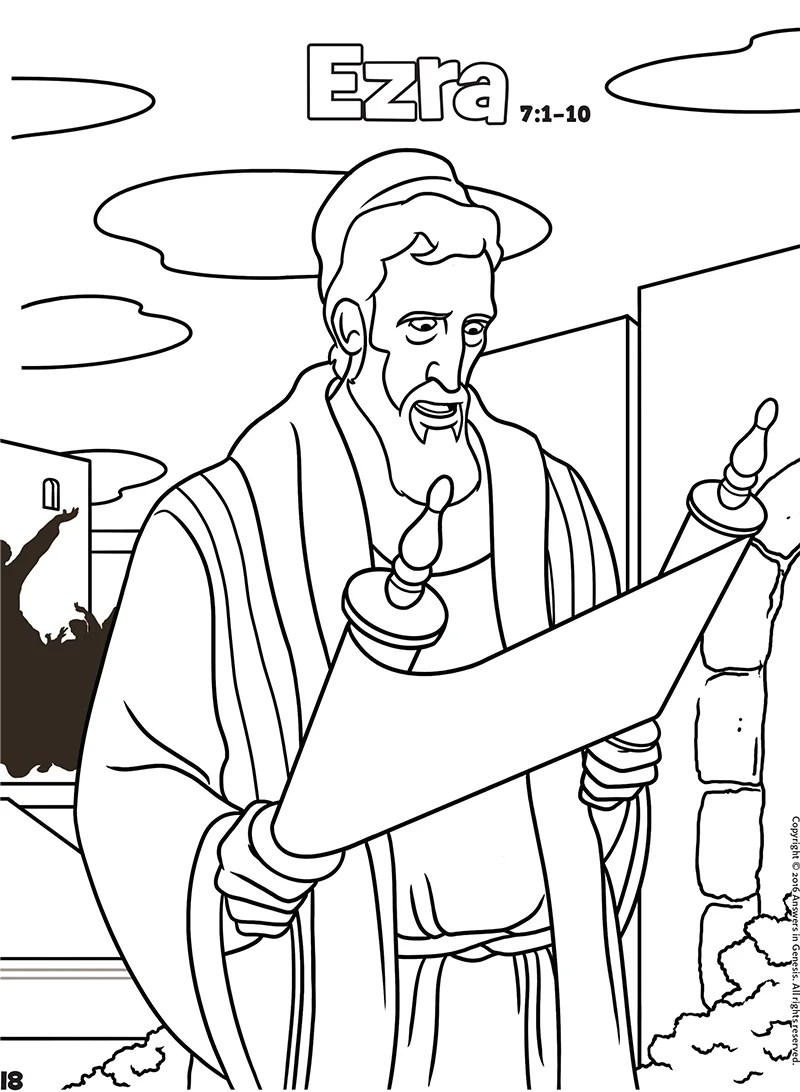 Ezra: Books of the Bible Coloring (Kids Coloring Activity