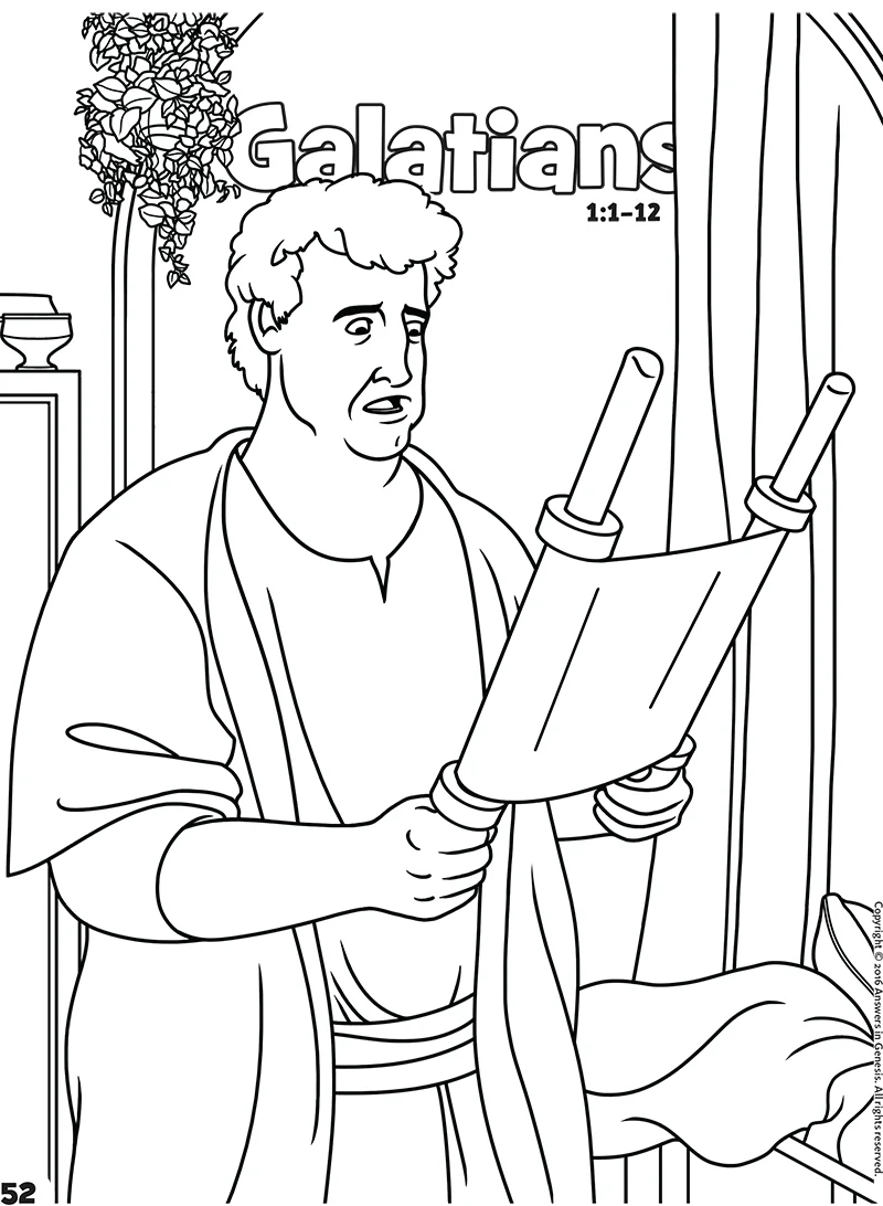 Galatians: Books of the Bible Coloring (Kids Coloring