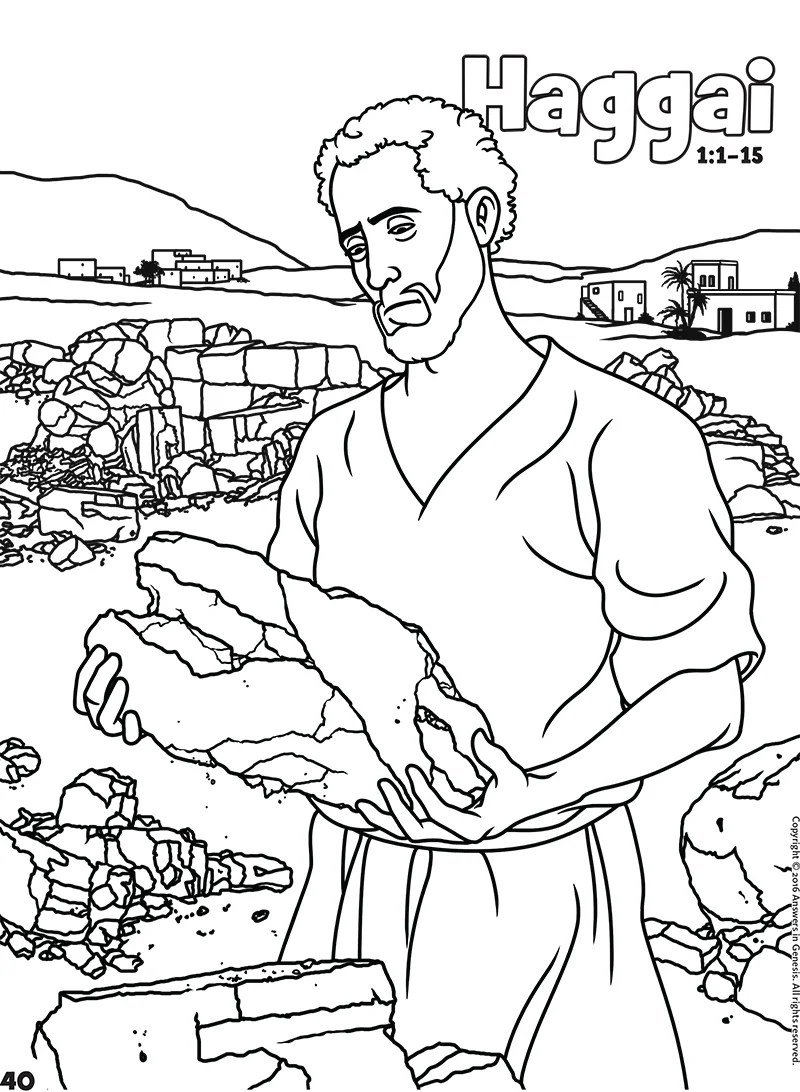 Haggai: Books of the Bible Coloring (Kids Coloring